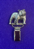 Dog Show Breed Ring Number Clip - Bulldog - FULL BODY Silver or Gold Style